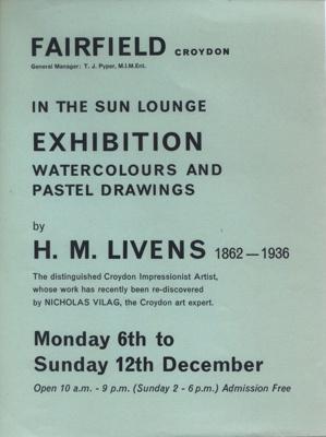 FAIRFIELD FLYER ART EXHIBITION HORACE MANN LIVENS; DEC 1965; 196512BC