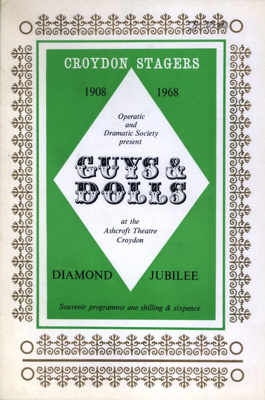 PROGRAMME CROYDON STAGERS GUYS AND DOLLS; APR 1968; 196804BK