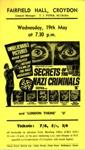 FLYER FILM SECRETS OF THE NAZI WAR CRIMINALS; MAY 1965; 196505BI