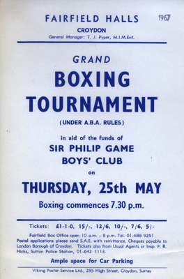 FLYER BOXING TOURNAMENT; MAY 1967; 196705BI
