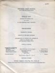 PROGRAMME CROYDON HIGH SCHOOL SPEECH DAY; MAR 1966; 196603BE