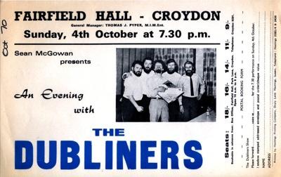 FLYER THE DUBLINERS FOLK; OCT 1970; 197010BK