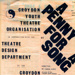 PROGRAMME A PENNY FOR A SONG CROYDON YOUTH THEATRE ORGANISATION CYTO CROYDON COLLEGE; NOV 1967; 196711BK