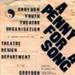 PROGRAMME A PENNY FOR A SONG CROYDON YOUTH THEATRE ORGANISATION CYTO CROYDON COLLEGE; NOV 1967; 196711BK