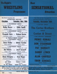 WRESTLING PROGRAMME BOBBY BARNES JOHNNY CZESLAW; DEC 1967; 196712BI