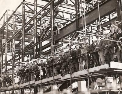 Workmen on Fairfield in 1961; JUN 1961; 1961CA Fairfield Construction