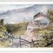 Fence, washing line looking back to Dunedin; William Matthew Hodgkins (1833-1898), England; Unknown