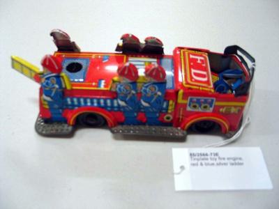 Tinplate Toy Fire Engine