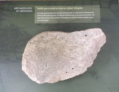 stone saddle quern; Neolithic; England, Oxfordshire, Abingdon-on-Thames, findspot; AAAHS Loan.2