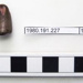 Crocodile tooth ; Crocodilian; [Wicklesham Pit, Faringdon, Oxfordshire] ; ABGCH: 1980.191.228