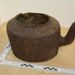 Rusted iron teapot without lid; E23