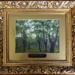 Framed oil painting of Epping Forest scene, 'Victoria Beeches, Chingford' (one of a set of 7); 19th century; LDQEH.2012.1.5