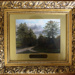 Framed oil painting of Epping Forest scene, 'Pump Hil near Chingford' (one of a set of 7); 19th century; LDQEH.2012.1.6