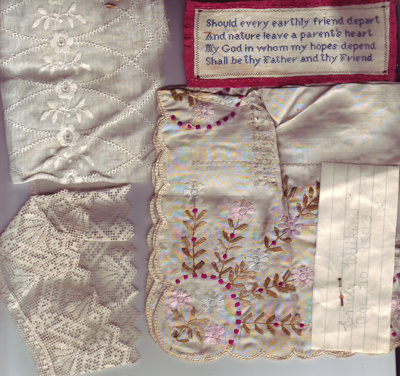 Emily Watkins' embroidery, 1893.