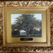 Framed oil painting of Epping Forest scene, 'Bedford's Oak Chingford' (one of a set of 7); 19th century; LDQEH.2012.1.3