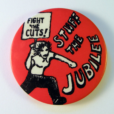 Stuff the Jubilee badge; 1977; BA012