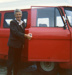 Kenny MacDonald, postman, with his Royal Mail delivery van; Robert Martin; 1976; 2011.12