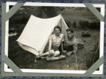Martha and Roddy MacLean in their tent, Lower Toscaig, Applecross; c.1935; 2011.279