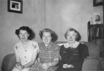 The MacLean sisters and friend; c.1950; 2011.242