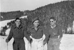 Three men skiing; c.1950; 2011.54