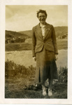 Martha MacLean in her family's garden, Lower Toscaig; c.1935; 2011.275