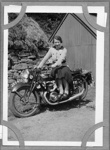 Janet on a motorbike; c.1940; 2011.236