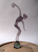 Glass sculpture of discus thrower; E. J. Bowen; Early 20th century; 0001