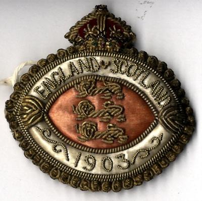 1903 England & Scotland Badge; 11642