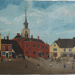 Baldock High Street, oil on board; later 1800s; 1993.5