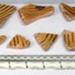 Slipware potsherds; 1660-1800; Staffordshire; 9546/5-45
