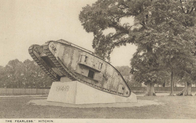 """The """"Fearless"""", Hitchin postcard; Carling and Hales; 1919; 6010/7"""