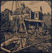 woodcut Harbour scene; Ratcliffe, William; 1910 - 1950; 1979.132