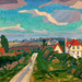 oil painting Letchworth, The Road; Gore, Spencer Frederick; 1912; 1983.91