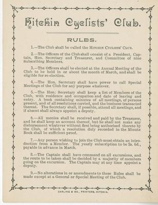 Rule card; William Carling & Co Ltd; 5790/4