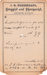 1880 Compounded Prescription from Northcraft Drug House in Abilene, KS (USA).; A.G. Northcraft, Abilene, KS Druggist; October 30, 1880; Fincham Collection 312