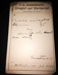 1880 Prescription for carbolic acid and glycerin from Northcraft Drug House in Abilene, KS (USA).; A.G. Northcraft, Abilene, KS Druggist; 11/2/1880; Fincham Collection 251