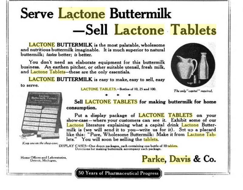 Lactone or Buttermilk Tablets