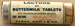 Lactone or Buttermilk Tablets; Parke, Davis & Company; 1920s; Fincham Collection 336