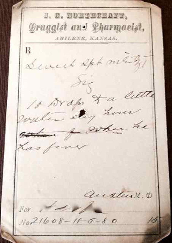1880 Prescription to enable Sweating and Urine Production for Relief ...