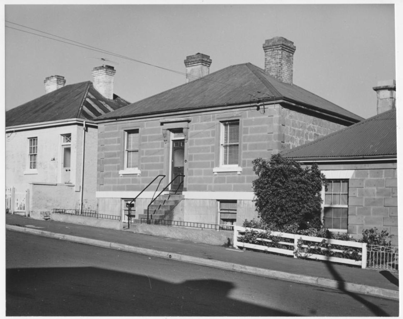 Stone Cottage, in De Witt Street, Battery Point, Tasmania. This (mis-identified as no. 27) image is part of a large collection of photographs which were entered in The Mercury Historic Homes Photographic Competition, 1963.
