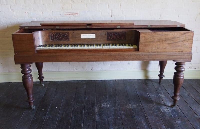 Square Table Piano; Thomas Tomkison; C. 1841; TSO00017367