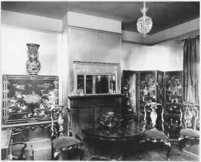 Dining room in 171 St John Street, Launceston, Tasmania.; Lloyd, Brian; c. 1970s;