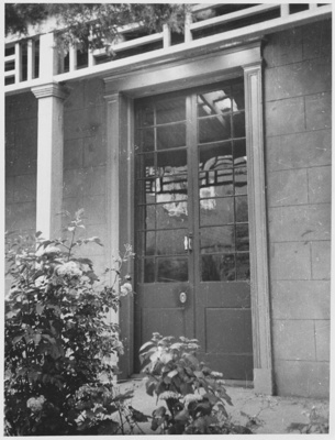 French door, 'Macquarie Cottage', Hobart, Tasmania; Unknown; December 1962; TSO00018114
