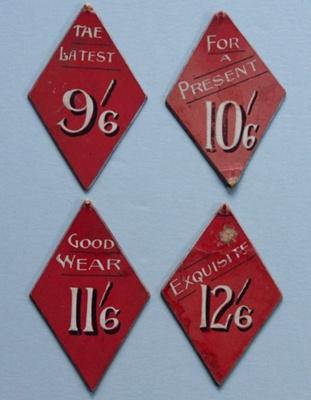 Price cards; Unknown; 1907 - 1920; NTTUS0400