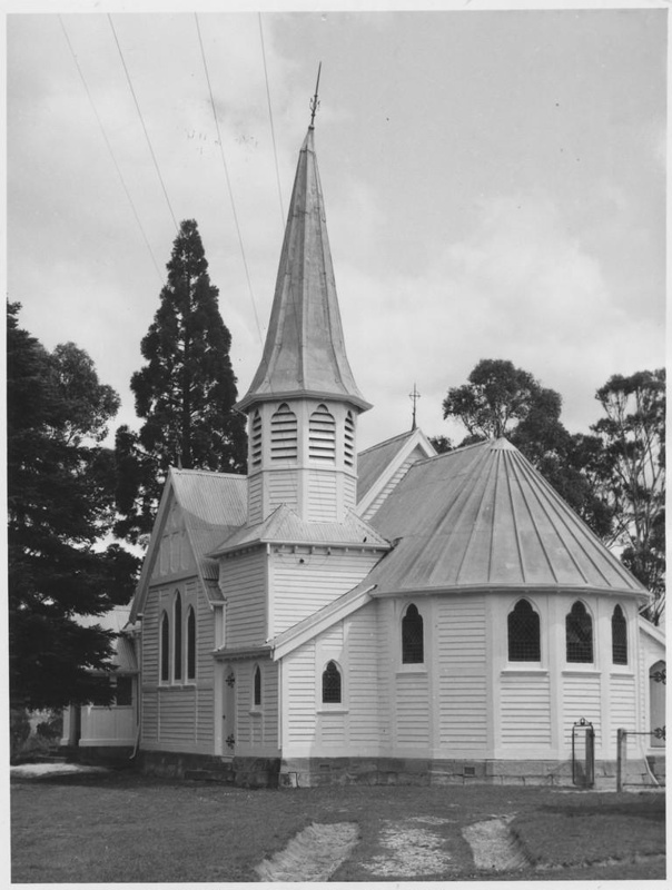 From National Trust of Australia (Tasmania).St. James Anglican Church, Ranelagh, Tasmania. Architect George Fagg. Built 1896