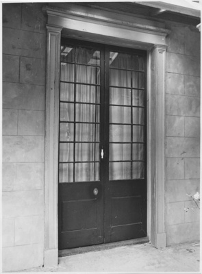 French window, 'Macquarie Cottage', Hobart, Tasmania; Unknown; c. 1963; TSO00018113