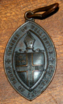 Amulet [bronze badge of the Wellington Order of Lay-Readers]; WCSP.41.2