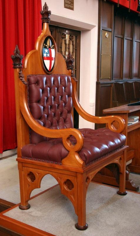 Cathedra [Rimu Bishopu0027s Seat With Stall]; WCSP.93