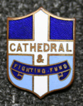Badge [crest-shaped cathedral badge given as Sunday School prize]; Mayer and Kean; c.1954; WCSP.40