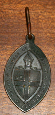 Amulet [bronze badge of the Wellington Order of Lay-Readers]; WCSP.41.1